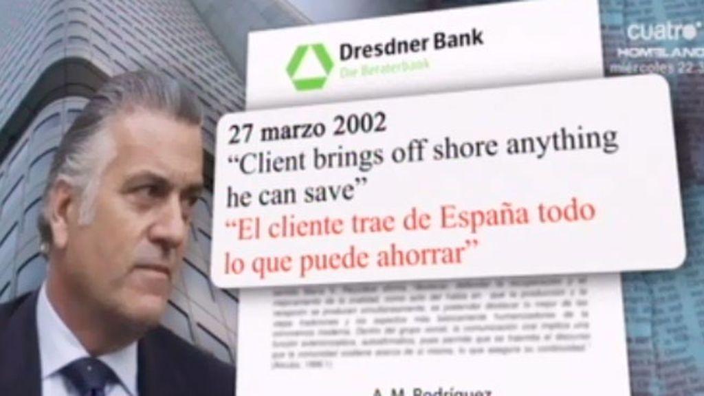 Bárcenas presumía ante el Banco Suizo de ingresar facilmente un millon de euros al año