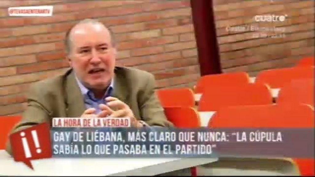 """Gay de Liébana: """"Todo es conocido por la cúpula de partido, no valen cuentos chinos"""""""
