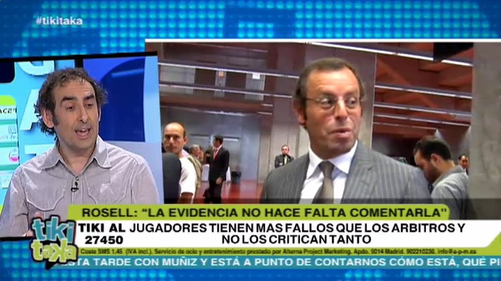 """Iturralde, a Rosell: """"Yo tampoco comentaré que es el peor presidente del Barcelona"""""""