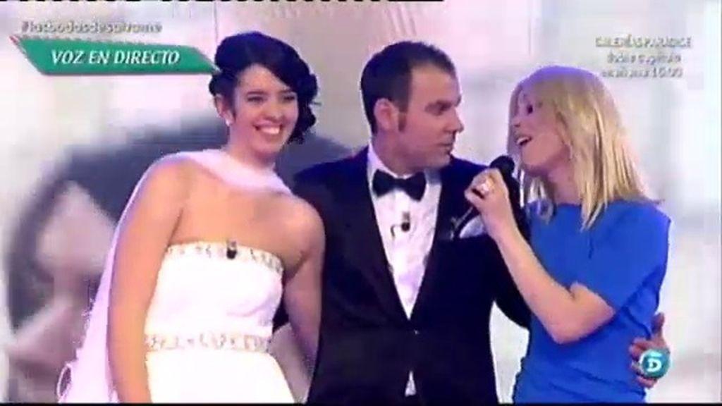 Soraya sorprende a los novios con 'Luna de Miel'