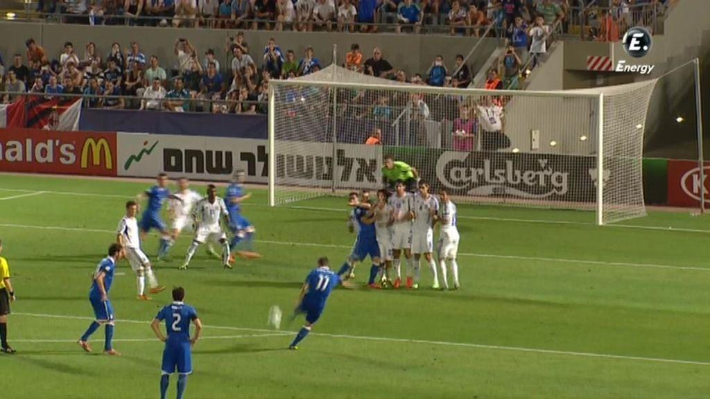 Gol: Italia 3 - 0 Israel (min. 54)