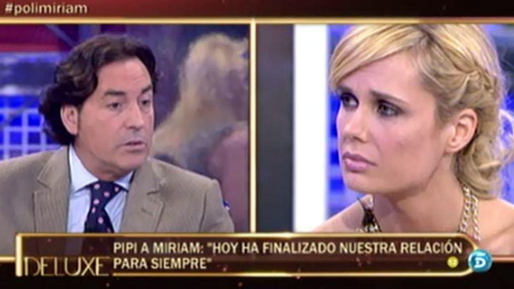 """Pipi: """"Entre Miriam y yo solo queda una hija"""""""