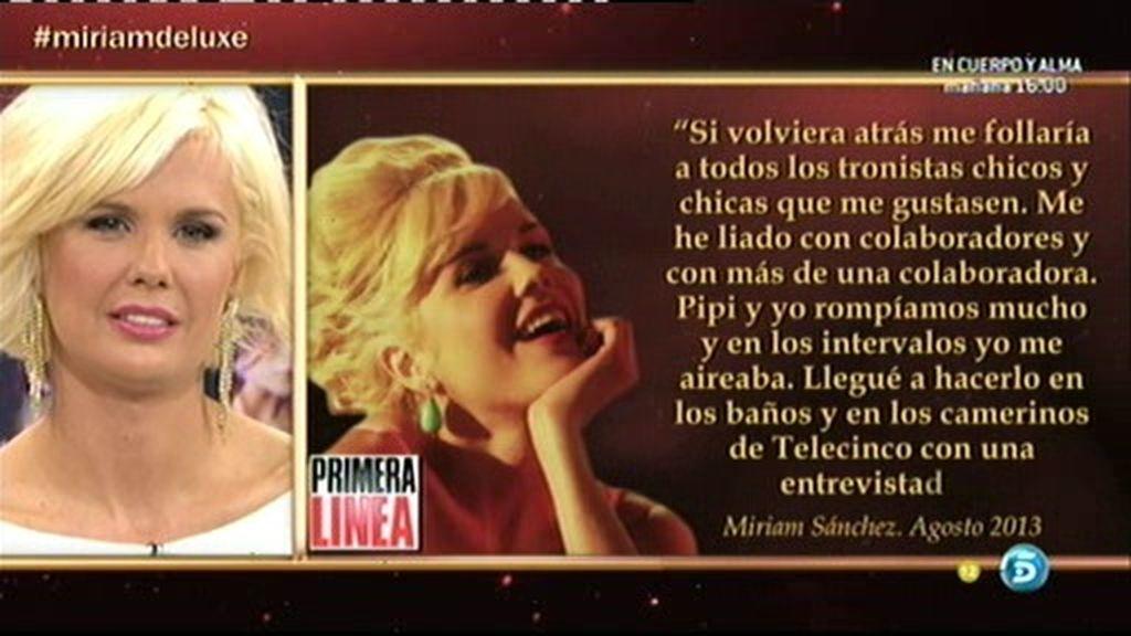 Miriam se niega a aclarar con quién se ha acostado en Telecinco