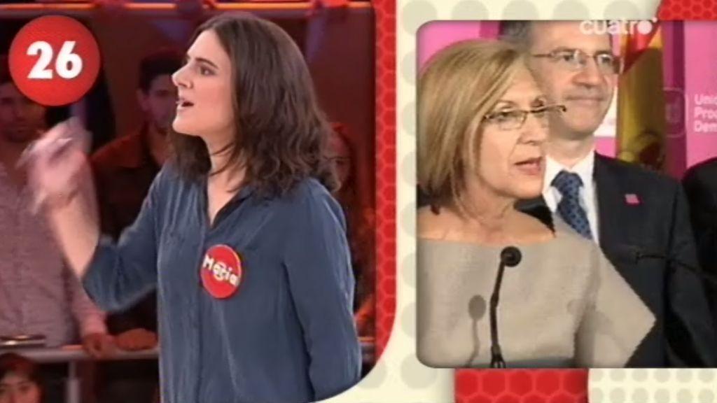 María es la líder de UPyD en 'El Comecocos'