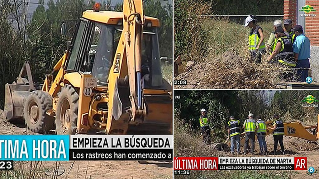 La policía ha comenzado a buscar el cuerpo de Marta del Castillo