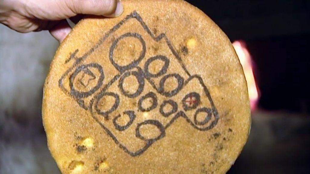 Un mapa en una barra de pan