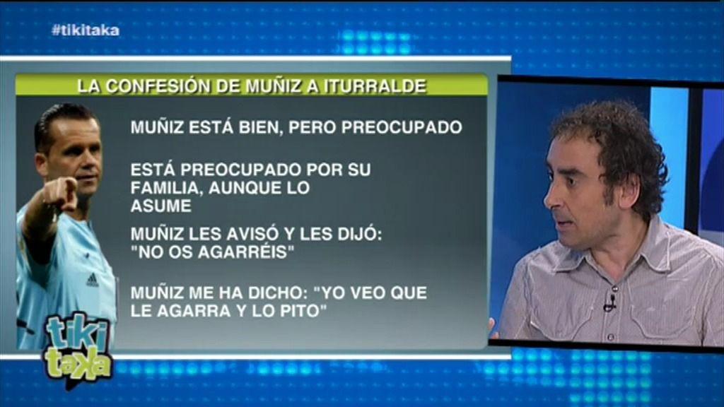 """Iturralde González: """"Muñiz me dijo que la decisión más fácil era no pitar"""""""