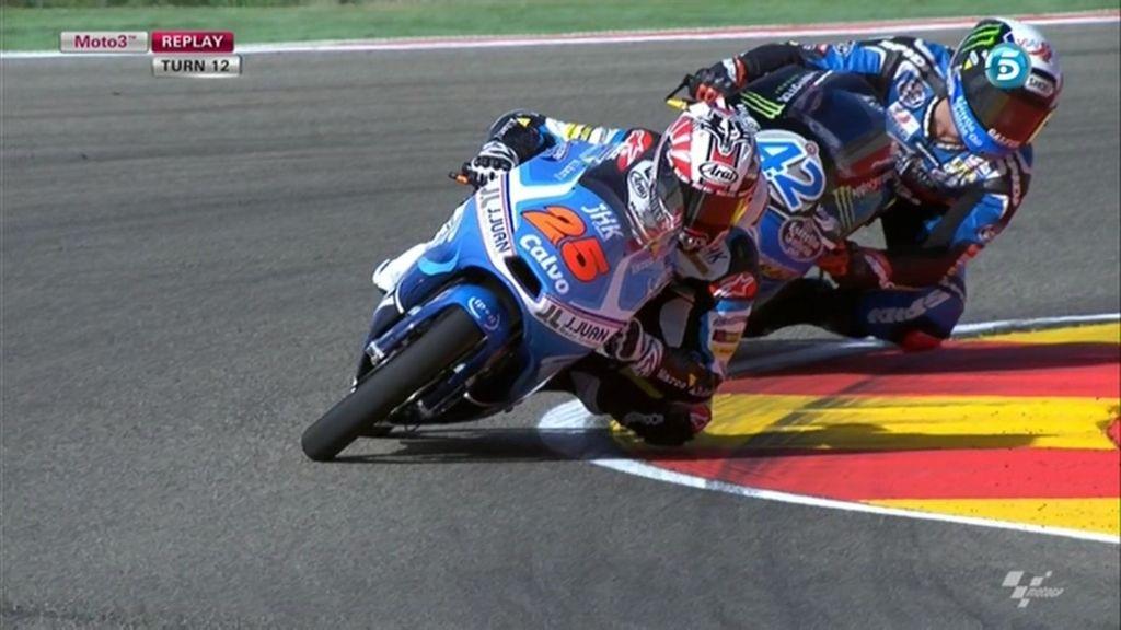 La última vuelta de Moto3 en Aragón