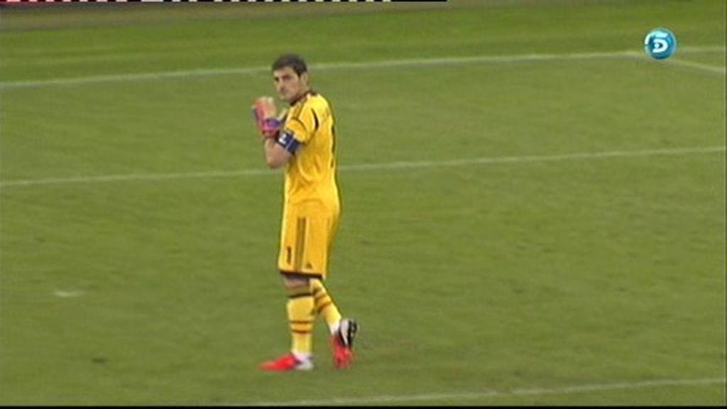 Así celebra Casillas el gol de Navas