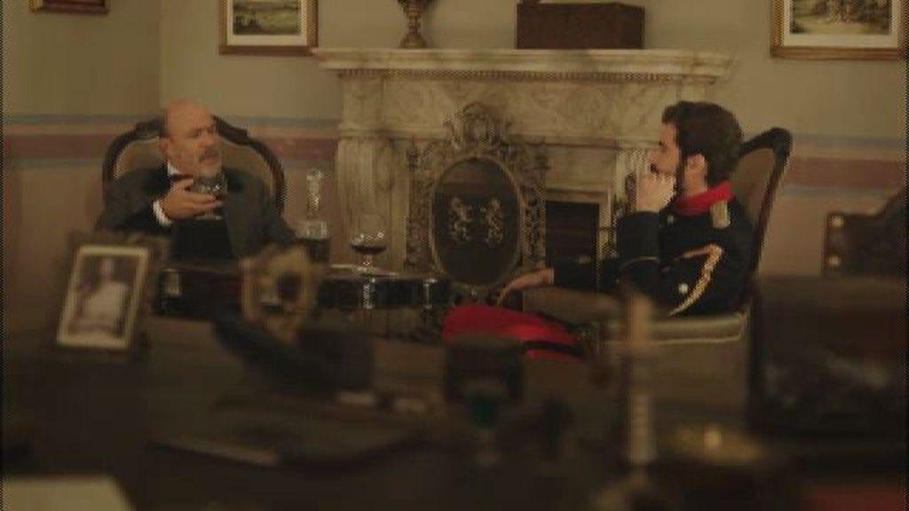 Lobo le ofrece la mano de su hija Isabel al teniente Ruiz