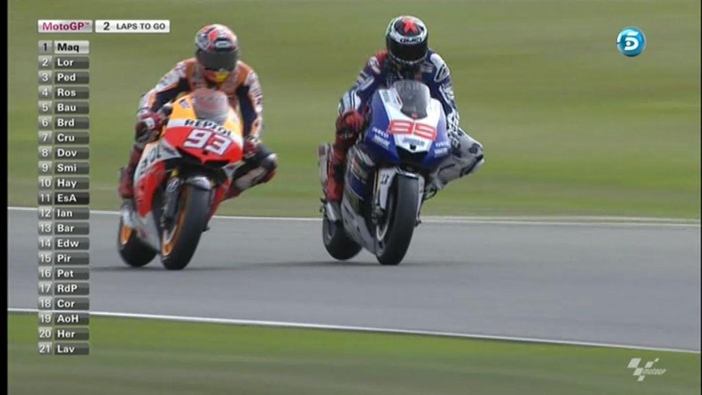 Final de infarto en MotoGP: las tres vueltas mano a mano de Lorenzo y Márquez