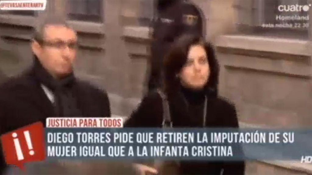 Diego Torres pide que retiren la imputación de su mujer