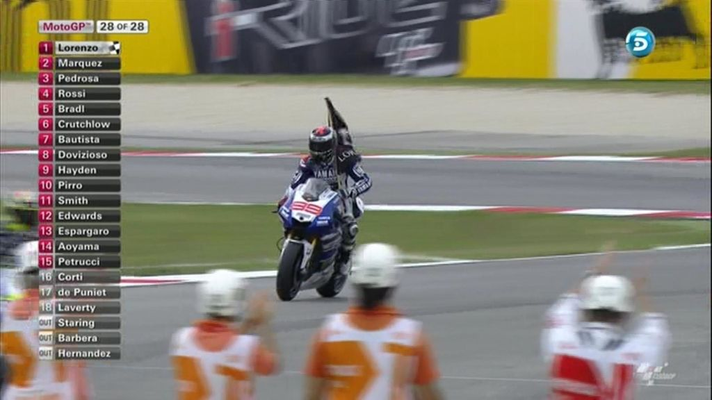 La última vuelta de MotoGP en Misano