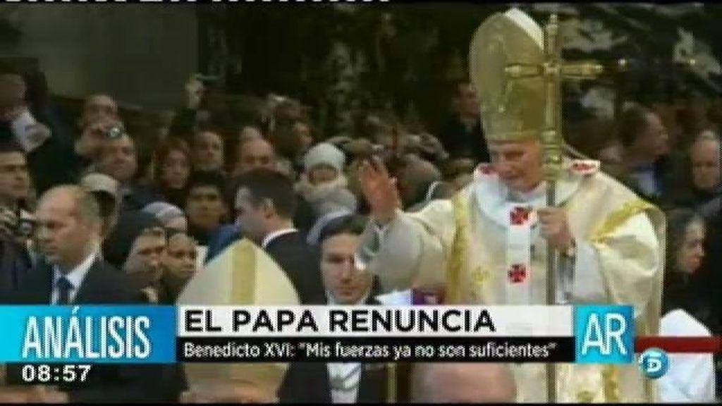 """Benedicto XVI: """"Mis fuerzas ya no son suficientes"""""""