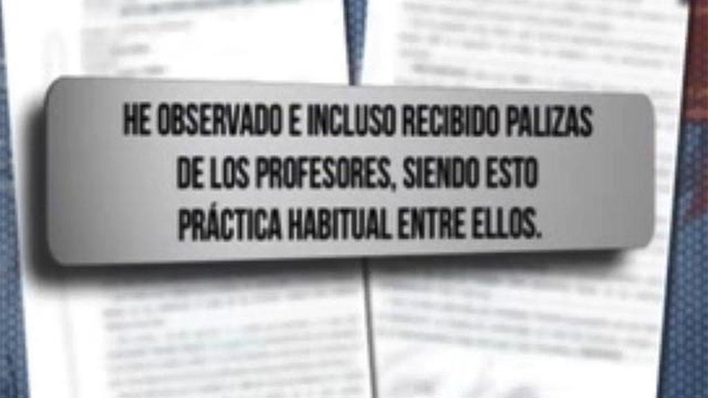 Declaración policial del niño que grabó la agresión de un profesor a un alumno