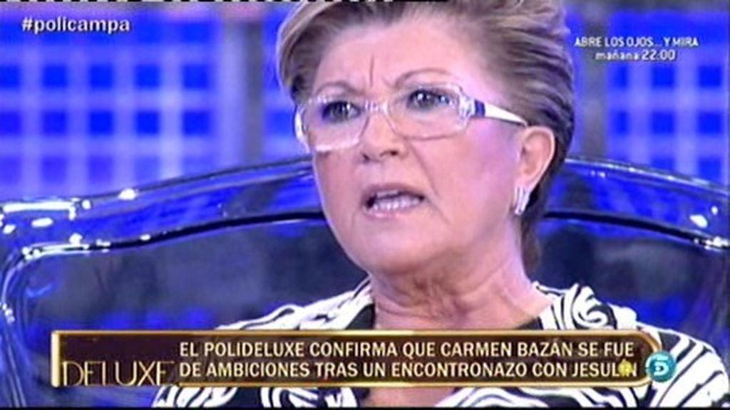 Carmen Bazán se fue de casa tras un encontronazo con Jesulín