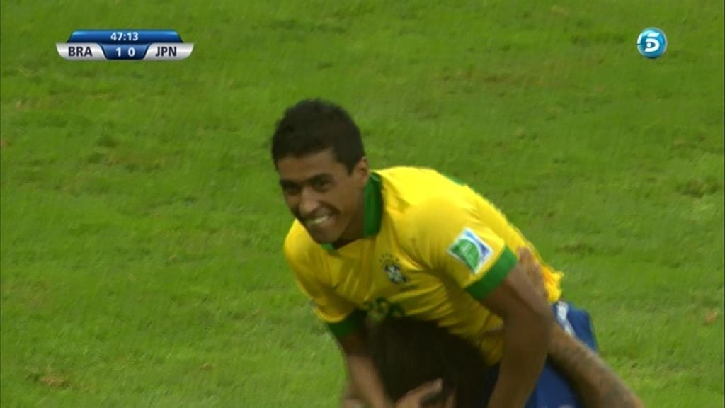 Gol de Paulinho (Brasil 2 - 0 Japón)