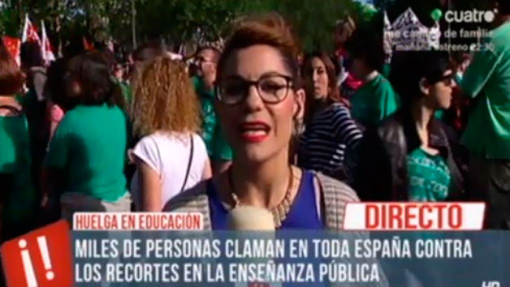 Miles de personas se manifiestan en Madrid contra la 'Ley Wert' y los recortes