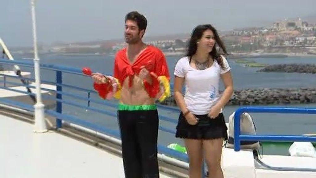 Diego sorprende a Corina con un baile sensual