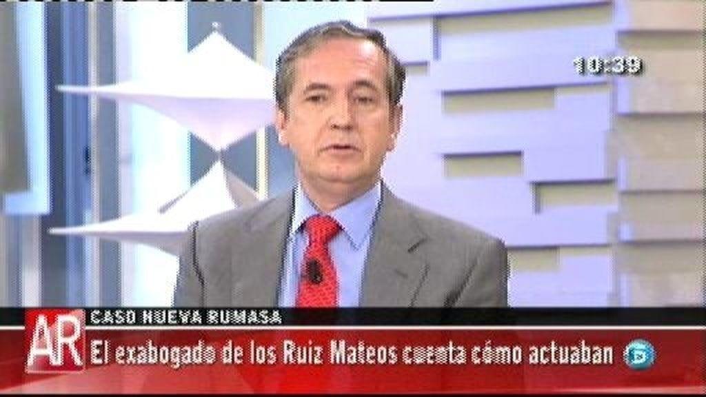 """Yvancos, ex abogado de Ruiz Mateos: """"Ruiz Mateos pidió a sus hijas que renunciaran en la gestión de Nueva Rumasa"""""""