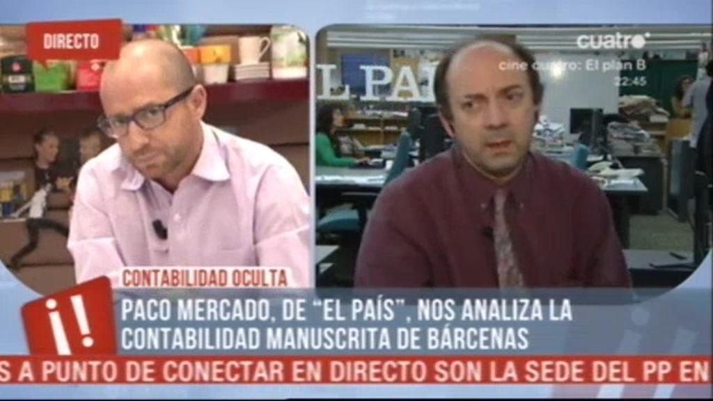 """Paco Mercado: """"Bárcenas guarda munición"""""""