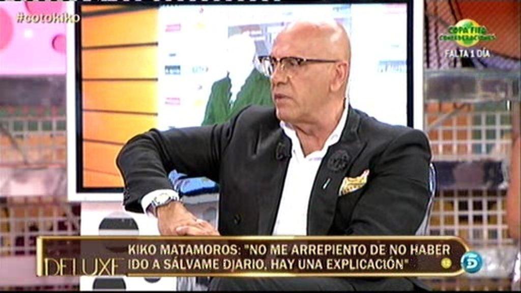 """Kiko Matamoros: """"Ni me da miedo nada ni me he escondido en mi casa"""""""