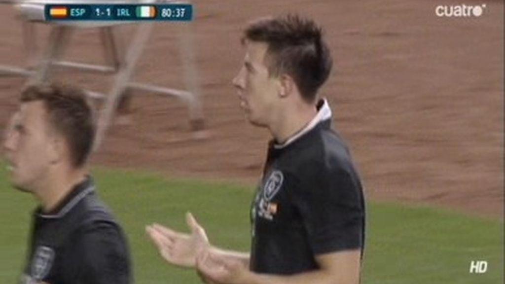 ¿Fuera de juego en el gol anulado a Irlanda?