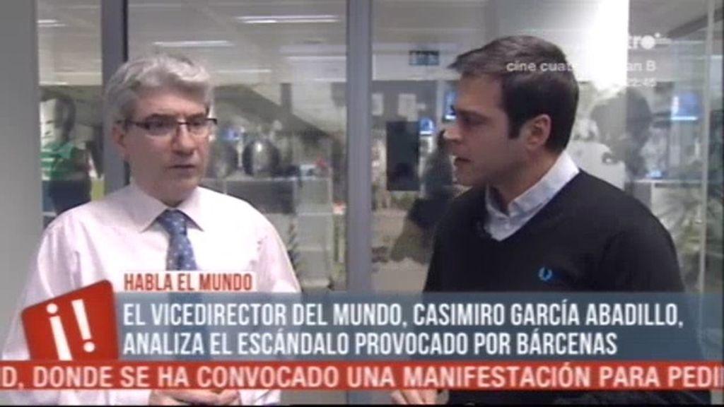 """García Abadillo: """"Bárcenas no ha dicho 'esta letra no es mía'"""""""