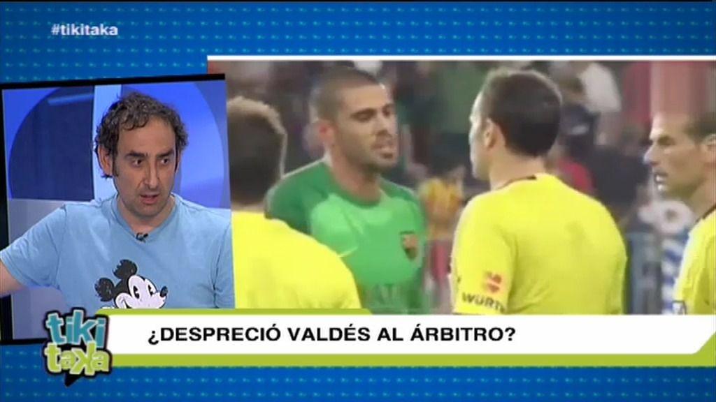 ¿Despreció Valdés al árbitro en Málaga al final del partido?