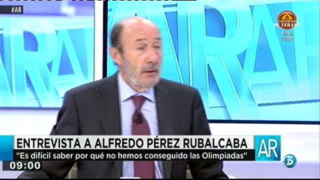 """Rubalcaba: """"Me pensaría dos veces si presentarnos a Madrid 2024"""""""