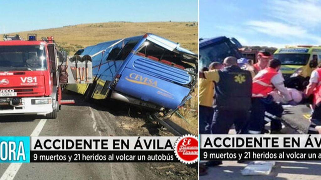 Cinco pasajeros del autobús accidentado en Ávila, en estado muy grave
