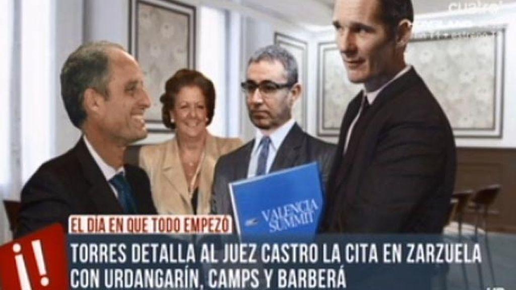 Urdangarín, Camps y Barberá, juntos en Zarzuela