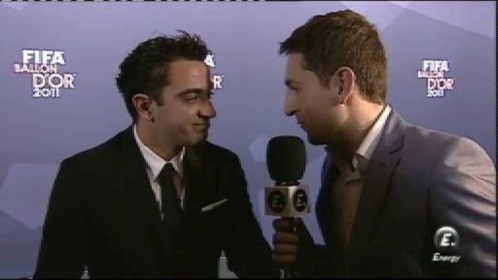 """Xavi: """"Le agradezco la dedicatoria a Messi"""""""