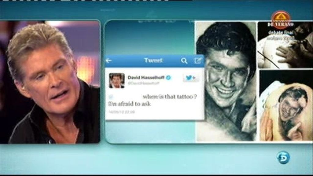 Un español tiene tatuada la cara de David Hasselhoff en el culo