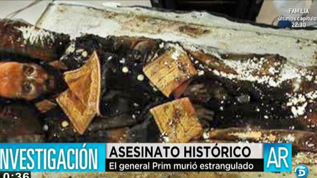 El general Prim murió estrangulado