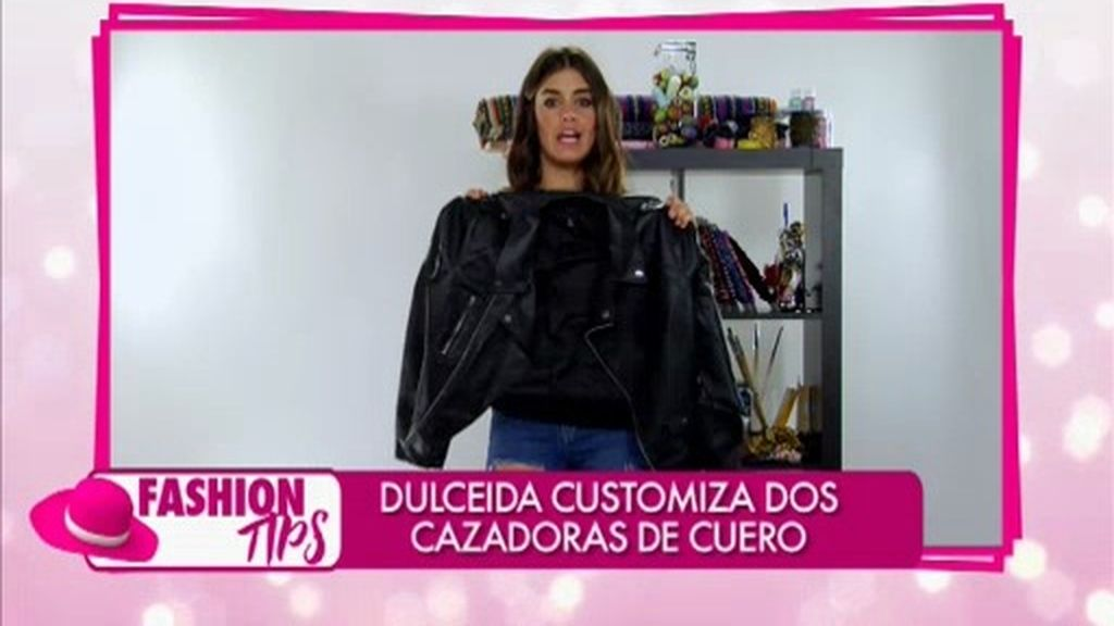 'Fashion tips': Dulceida customiza dos cazadoras de cuero