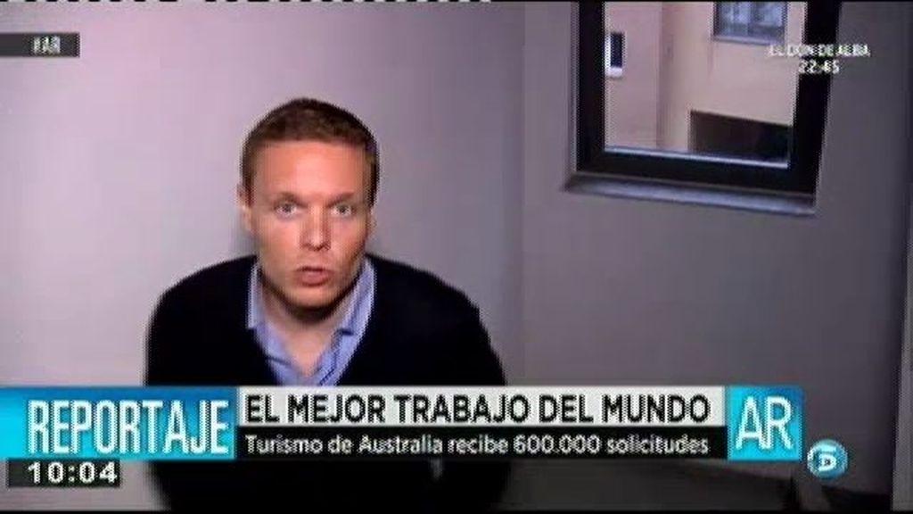 Un español ha sido seleccionado para el mejor trabajo del mundo