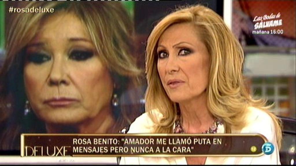 """Rosa Benito: """"Amador me ha dicho que soy una hija de puta"""""""