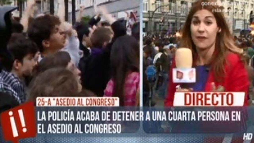 Cuatro detenidos en el 'asedio al Congreso'