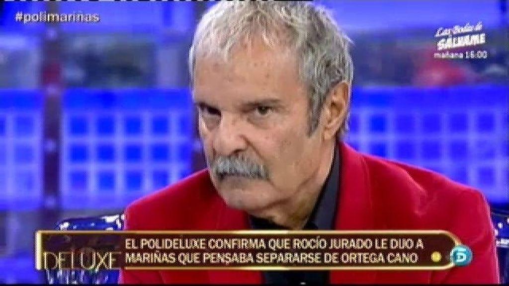El 'poli-deluxe' confirma que Rocío Jurado se casó con Ortega Cano sin estar enamorada