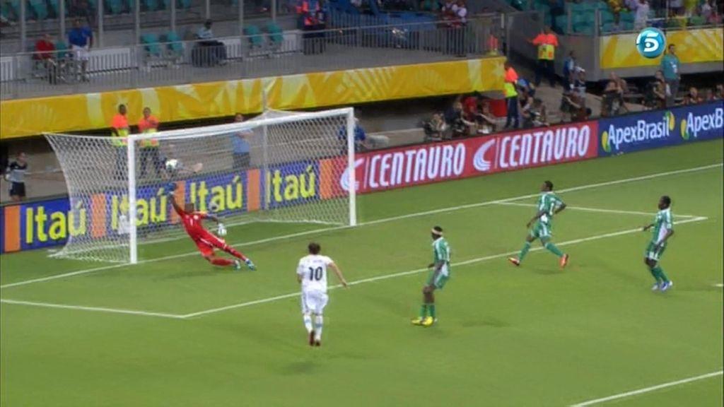 Gol: Nigeria 1-2 Uruguay (Min. 51)