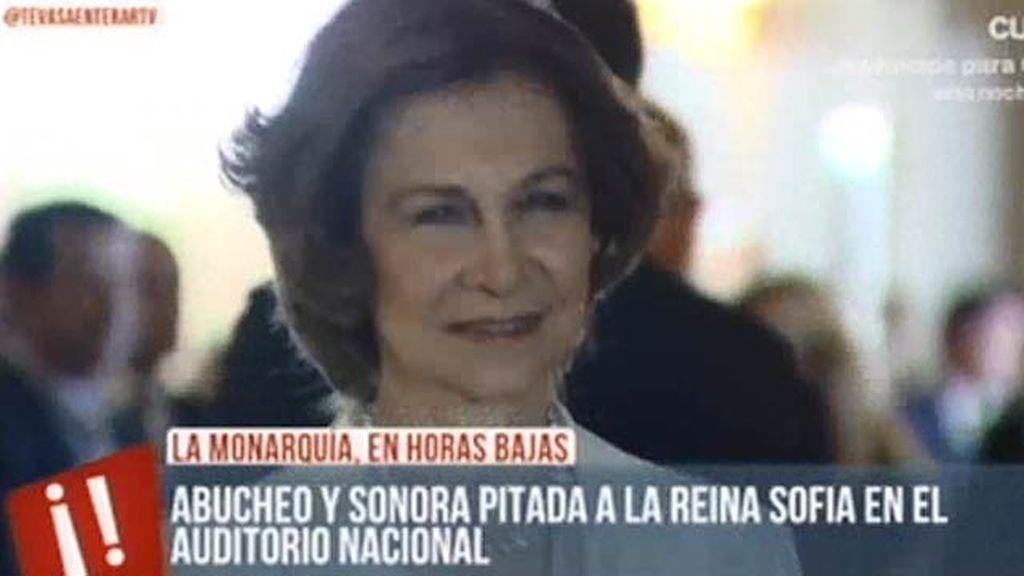 La Reina Sofía, abucheada en el Auditorio Nacional