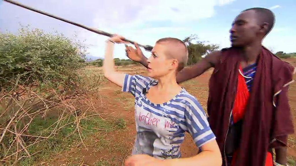 Aprendiendo a lanzar la jabalina