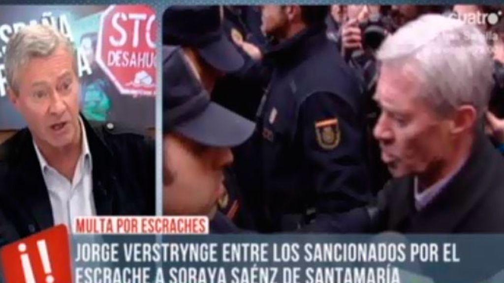 """Verstrynge: """"Ni yo organizé la manifestación, ni escracheé, ni incité a la violencia"""""""