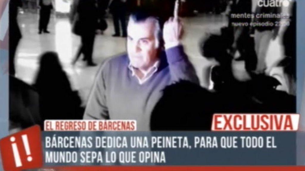 'Te vas a enterar', testigos en exclusiva de la llegada de Bárcenas a Madrid
