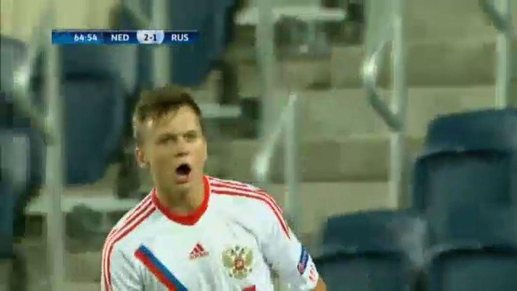 Gol: Holanda 2-1 Rusia (min.65)