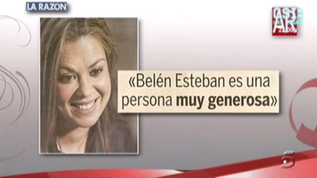 Campa, cariñosa con la Esteban