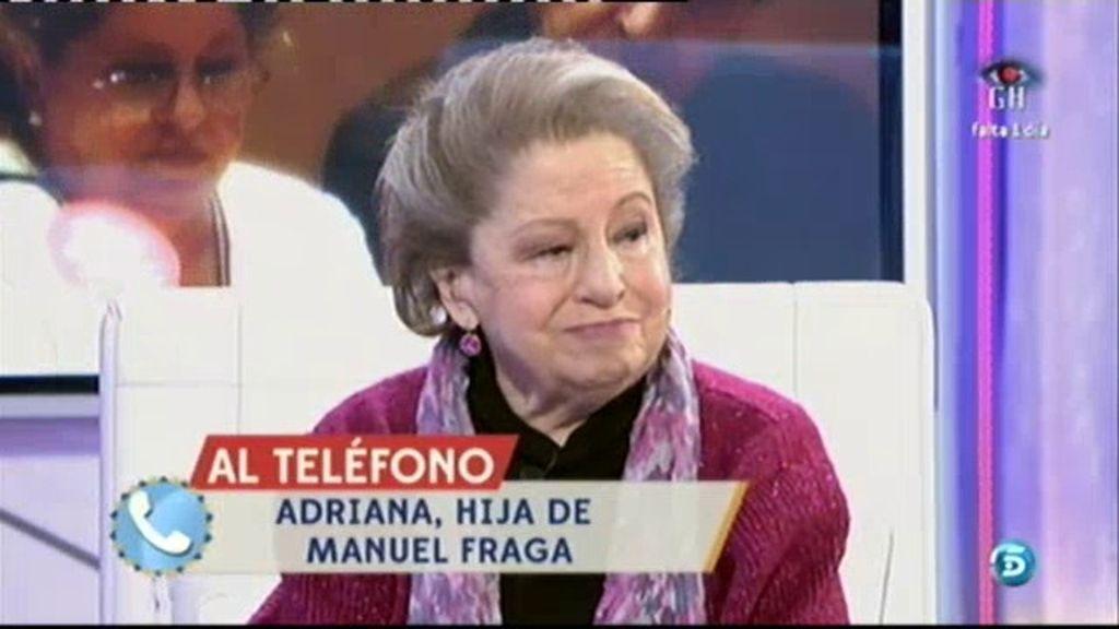 """Adriana, La hija de Fraga, a Mª Antonia: """"En mi familia has sido toda una institución"""""""