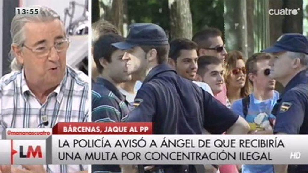 Ángel fue multado por concentración ilegal