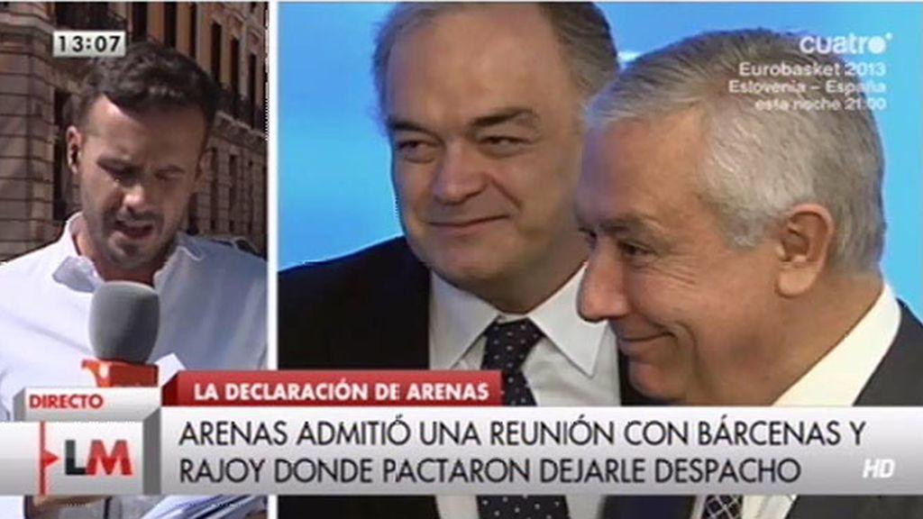 """Javier Arenas, al juez: """"No tenía ninguna competencia en el área económica"""""""